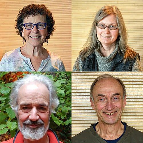Sooz Appel, Lyndal Johnson, Steve Wilhelm, Jerry Harter at Seattle Insight Meditation Society